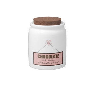 Chocolate Answer Candy Jar