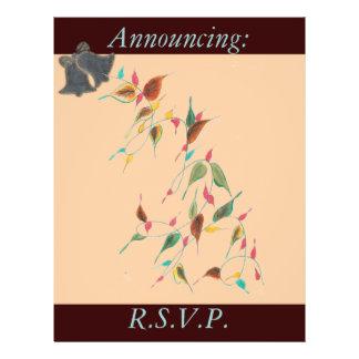Chocolate apricot Wedding Flyer