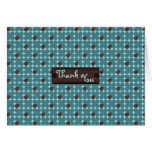 Chocolate Aqua Bubbles Thank-You Note Greeting Card