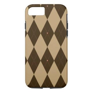 Chocolate Argyle iPhone 8/7 Case