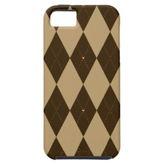 Chocolate Argyle iPhone SE/5/5s Case