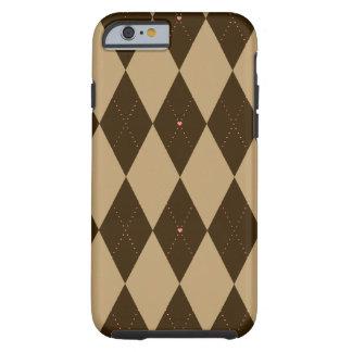 Chocolate Argyle Tough iPhone 6 Case