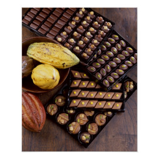 Chocolate assortment for Christmas For use in Poster