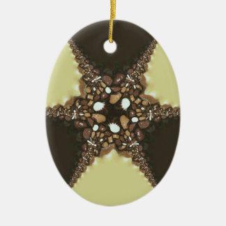 Chocolate assortments ceramic ornament