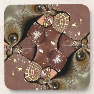 Chocolate assortments drink coaster