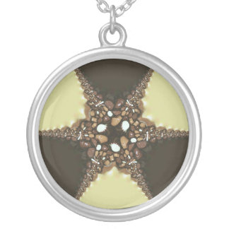 Chocolate assortments silver plated necklace
