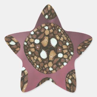 Chocolate assortments star sticker