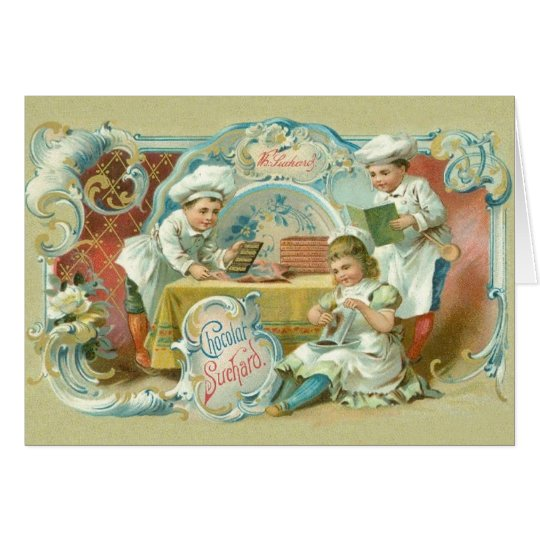 Chocolate Bakers Antique Card