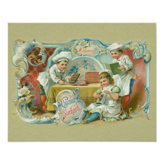 Chocolate Bakers Antique Poster
