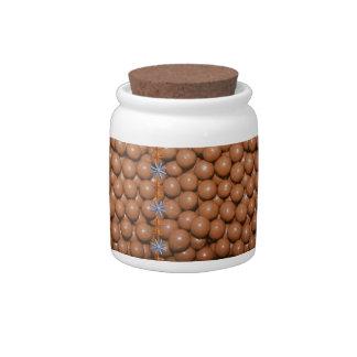 Chocolate Balls Jar Candy Jars