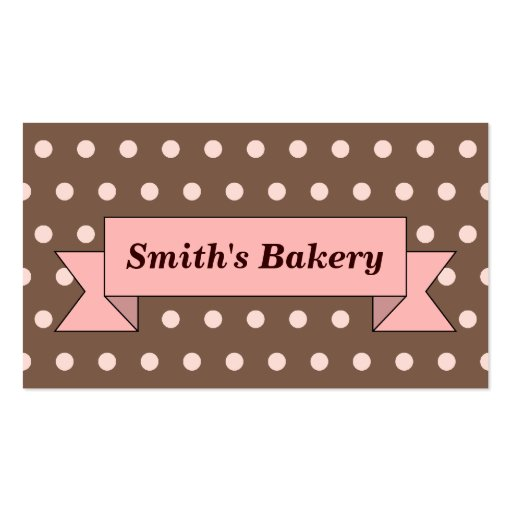 Chocolate Banner Business Card