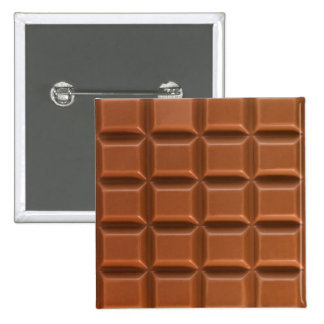 Chocolate bar background badge pins