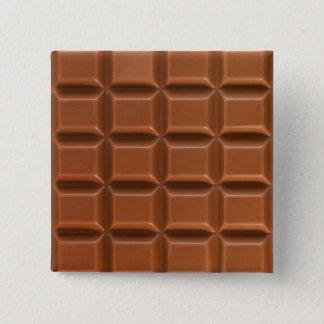 Chocolate bar background badge pinback button