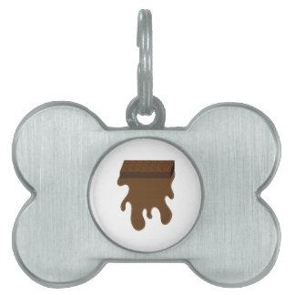 Chocolate Bar Base Pet ID Tags