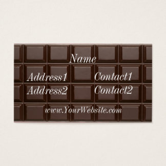 Chocolate Bar Business Card