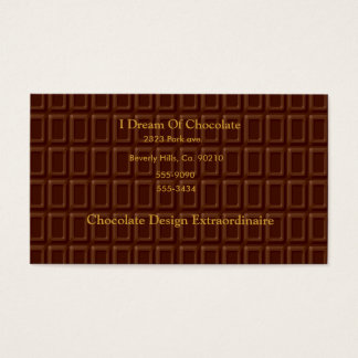 Chocolate Bar Candy Business Card