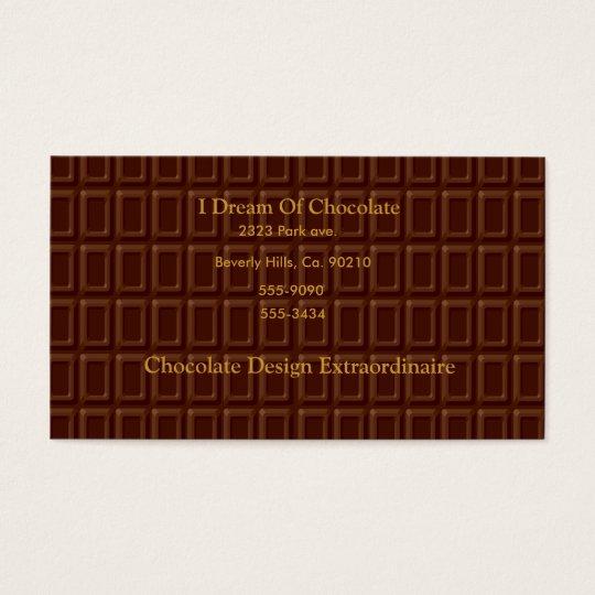 Chocolate Bar Candy Business Card