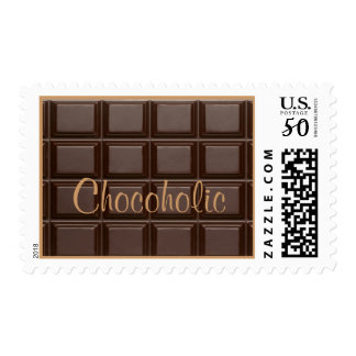 Chocolate Bar Chocoholic Postage Stamp