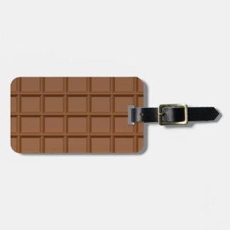 Chocolate Bar custom luggage tag