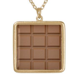 """Chocolate Bar"" custom necklace"
