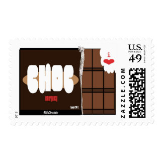 chocolate bar i love chocalate horizontal copy postage