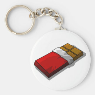 Chocolate Bar in Red Wrapper Keychain
