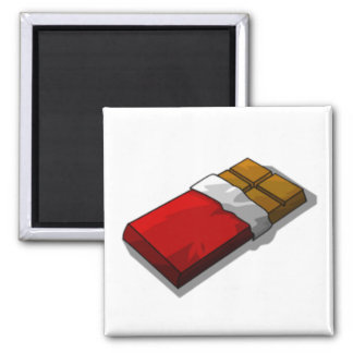 Chocolate Bar in Red Wrapper Refrigerator Magnet