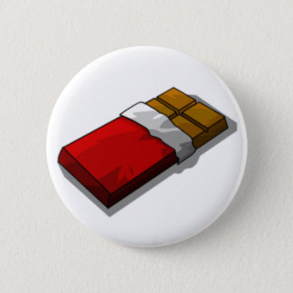 Chocolate Bar in Red Wrapper Pinback Button