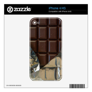 Chocolate Bar iPhone 4/4S Skin Skins For iPhone 4S