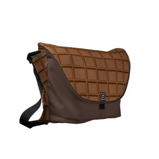 """Chocolate Bar"" messenger bag"