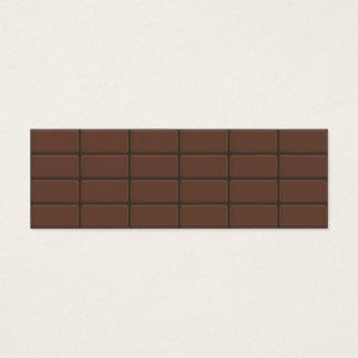 Chocolate Bar Pieces Mini Business Card
