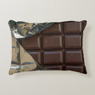 "Chocolate Bar Polyester Accent Pillow 16"" x 12"""