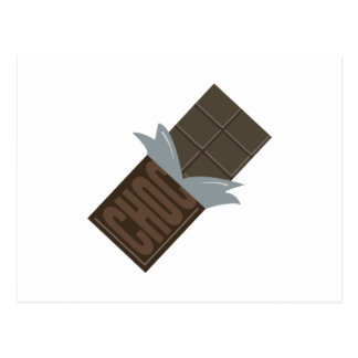 Chocolate Bar Postcard