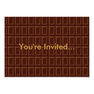 Chocolate Bar Set Card