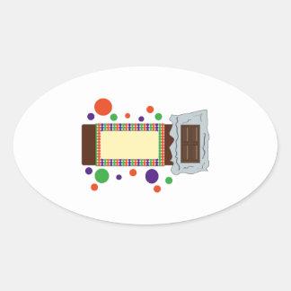 Chocolate Bar Oval Sticker