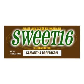 Chocolate Bar Sweet Sixteen Party Invitation