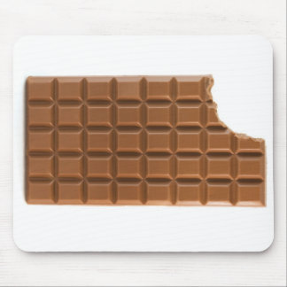 Chocolate bar with a missing bite mouse pad