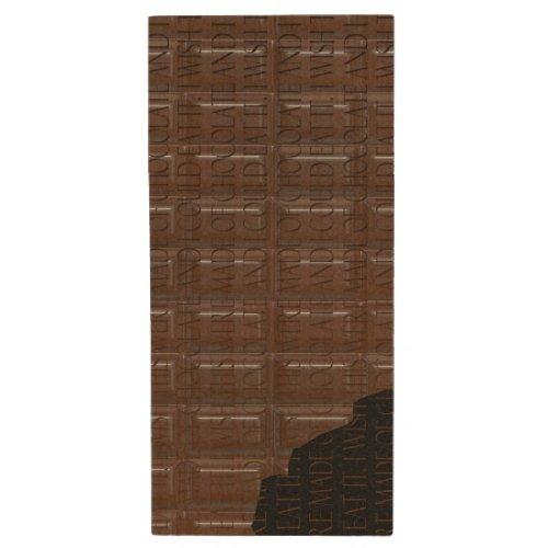 Chocolate Bar Wood Flash Drive