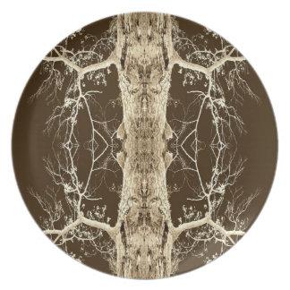 Chocolate Bark Abstract Art Photo Wall Art Gift Plate