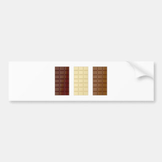 Chocolate bars bumper sticker
