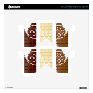 Chocolate bars PS3 controller skins