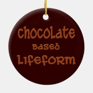 Chocolate Based Lifeform Ceramic Ornament