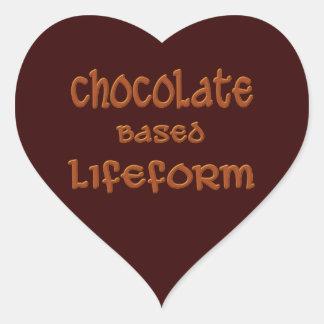 Chocolate Based Lifeform Heart Sticker