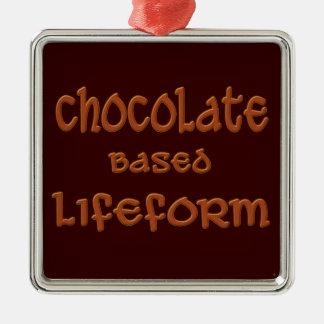 Chocolate Based Lifeform Metal Ornament