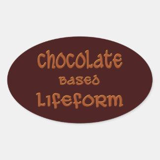 Chocolate Based Lifeform Oval Sticker