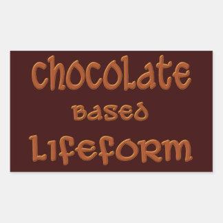 Chocolate Based Lifeform Rectangular Sticker