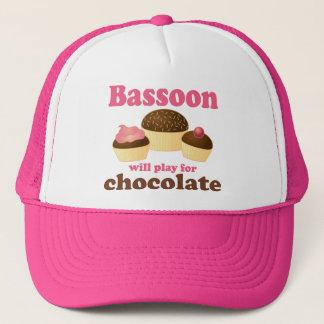 Chocolate Bassoon Music Gift Trucker Hat