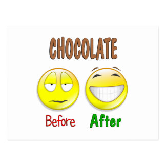 Chocolate Before After Postcard
