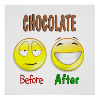 Chocolate Before After Poster