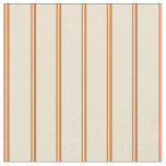 [ Thumbnail: Chocolate & Beige Colored Lines Pattern Fabric ]